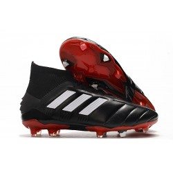 adidas Predator 19.1 FG Soccer Cleat Core Black White