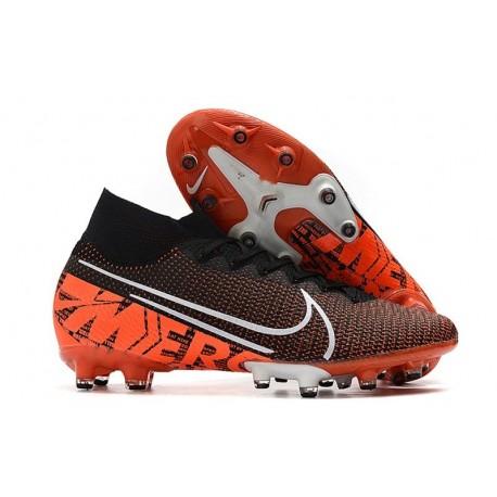 Nike Mercurial Superfly 7 Elite SE AG Black Orange White