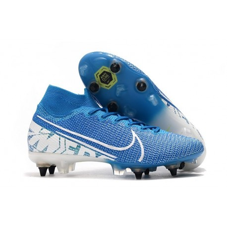 Nike Mercurial Superfly 7 Elite SG-PRO Anti-Clog New Lights Blue White