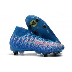 Nike Mercurial Superfly 7 Elite SG-PRO Anti-Clog Blue Red