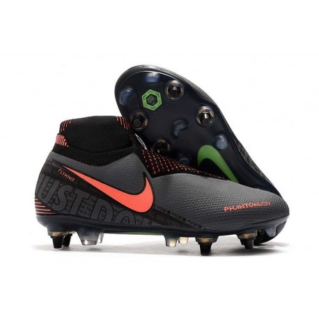 New Nike Phantom Vision Elite DF SG-Pro AC Dark Grey Bright Mango