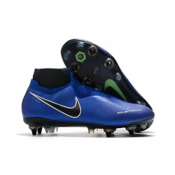 New Nike Phantom Vision Elite DF SG-Pro AC Racer Blue Black Metallic Silver