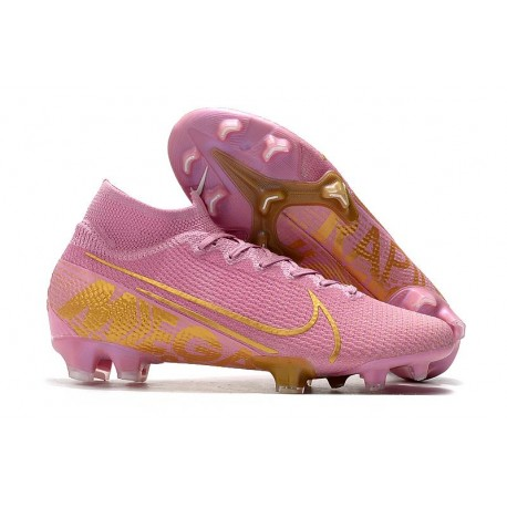 New Nike Mercurial Superfly VII Elite FG Boots Pink Gold
