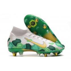 Nike Mercurial Superfly 7 Elite SG-PRO AC Mbappé Vast Grey Gold Green