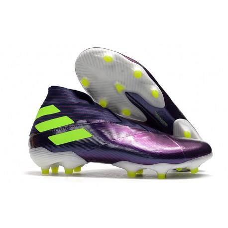 adidas Nemeziz 19+ FG News Boot Purple Green