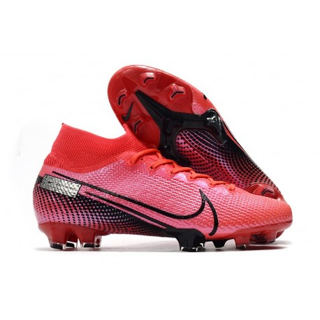 New Nike Mercurial Superfly VII Elite SE FG Boots Laser Crimson Black