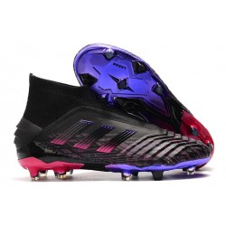 New adidas Predator 19+ FG Soccer Cleat Black Pink Blue