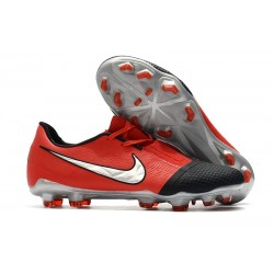 New Nike Phantom Venom Elite FG Laser Crimson Metallic Silver Black