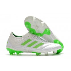 New Adidas Copa 19.1 FG Soccer Boots -White Solar Lime