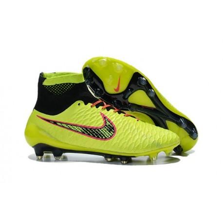 New 2015 Nike Magista Obra FG ACC Men Soccer Cleats Volt Black