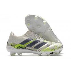 New adidas Copa 20.1 FG Boots White Core Black Signal Green