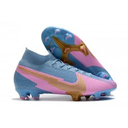 Nike 2020 News Mercurial Superfly VII Elite FG Blue Pink Gold