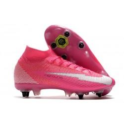 Nike Mercurial Superfly 7 Elite SG-PRO X Mbappe Pink Blast White Black