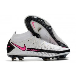 Nike Phantom GT Dynamic Fit Elite FG Cleats White Pink Black