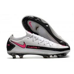 Nike Phantom Elite GT FG Soccer Cleats White Black Pink Blast