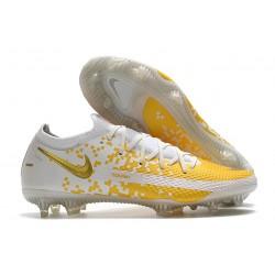 Nike Phantom Elite GT FG Soccer Cleats White Gold