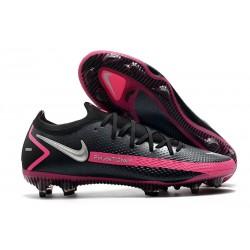 Nike Phantom Elite GT FG Soccer Cleats lack Pink Blast Metallic Silver