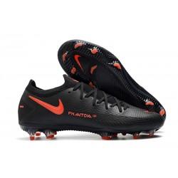 Nike Phantom Elite GT FG Soccer Cleats Black Dark Smoke Grey Chile Red