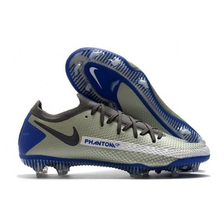 Nike Phantom Elite GT FG Soccer Cleats Blue Black Grey