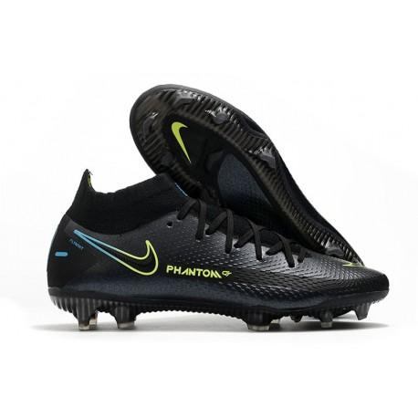 Nike Phantom GT Elite DF FG Firm Ground Black Volt Blue