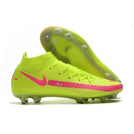Nike Phantom GT Elite DF FG Firm Ground Yellow Pink Blast