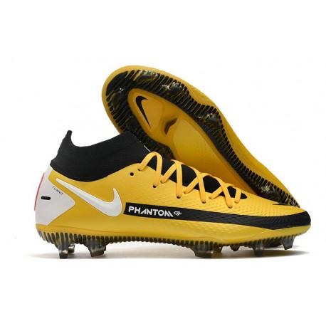 Nike Phantom GT Elite DF FG Firm Ground Yellow Black White