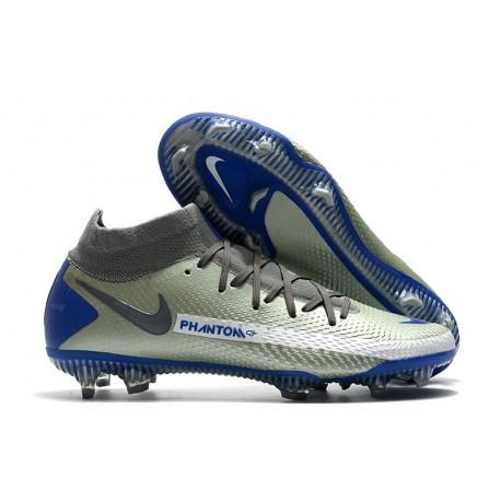 Nike Phantom GT Elite DF FG Firm Ground Gray Blue