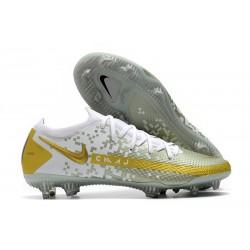Nike Phantom Elite GT FG Soccer Cleats White Golden