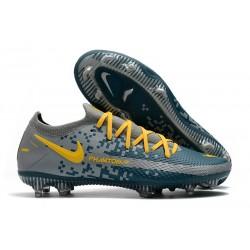 Nike Phantom GT Elite FG Firm-Ground Blue Gray Yellow