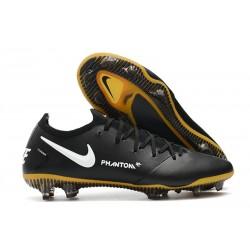 Men Nike Phantom GT Elite FG 2021 Cleat Black Gold White