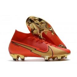 Nike Mercurial Superfly 7 Elite DF FG Ronaldo CR100 Red Gold