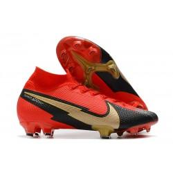 Nike Mercurial Superfly 7 Elite DF FG Boots Crimson Black Gold