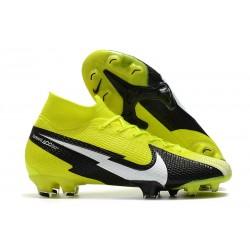 Nike Mercurial Superfly 7 Elite DF FG Boots Yellow Black White