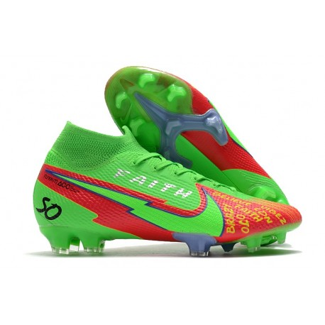 Nike Mercurial Superfly 7 Elite DF FG Boots Faith Green Red