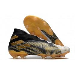 adidas Nemeziz 19+ FG News Boot White Gold Metallic Core Black