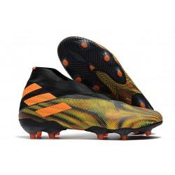 adidas Nemeziz 19+ FG News Boot Black Green Orange