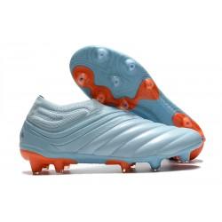 adidas Copa 20+ FG Soccer Cleats Sky Tint Team Royal Blue Signal Coral