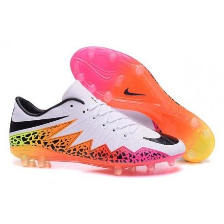 Nike HyperVenom Phantom FG ACC Neymar Shoes White Pink Black