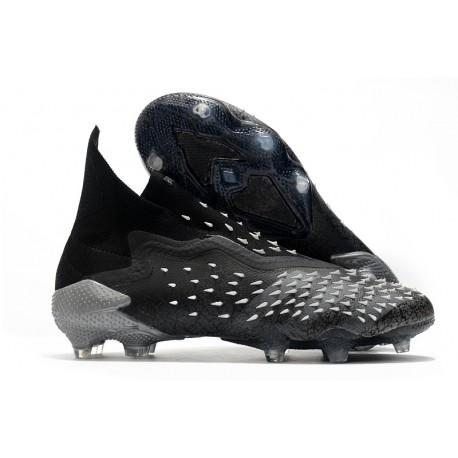 adidas Predator Freak + FG Firm Ground Core Black Grey Four White