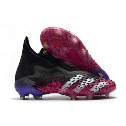 adidas Predator Freak + FG Firm Ground Core Black White Shock Pink