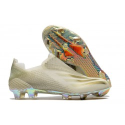 adidas X Ghosted FG Cleats White Gold