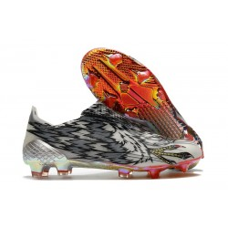 adidas X Ghosted FG Cleats Black White Silver