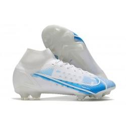 News Nike Mercurial Superfly VIII Elite FG White Blue