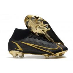 Nike Mercurial Superfly 8 Elite FG Black Golden