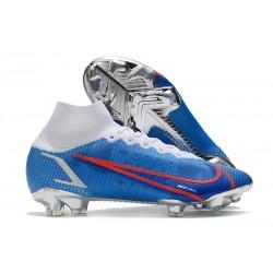 Nike Mercurial Superfly 8 Elite FG Blue White Red