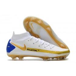 New Mens Nike Phantom GT Elite DF FG White Gold Blue