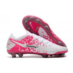 New Nike Phantom GT Elite FG White Pink