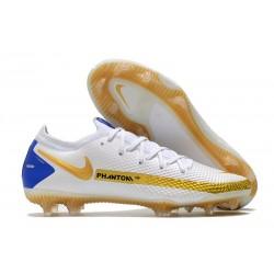 New Nike Phantom GT Elite FG White Golden Blue