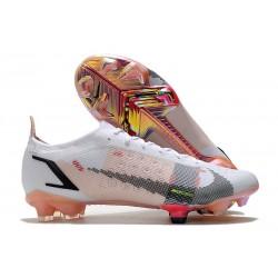 Nike Mercurial Vapor 14 Elite FG Soccer Cleats White Pink Black