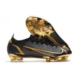 Nike Mercurial Vapor 14 Elite FG Soccer Cleats Black Gold